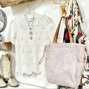 Drawstring ROOTS tote bag in light LILAC TRIBE💜✨